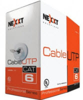 Bobina/Cable UTP NXT CAT6 305m/1000Ft  Gris Cobre Sólido