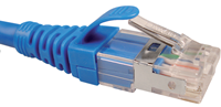 Patch Cord NXT Cat6a 2.1m/7Ft S/FTP RJ45 Azul Blindado