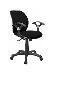 Ergosoft Office Chair with Arms Black Fabric Xtech QZY-T16R
