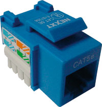 Jack RJ45 CAT5e Tipo 110 Azul 22-26 AWG NXT