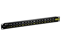 Nexxt Solutions Infrastructure - Patch panel - Black