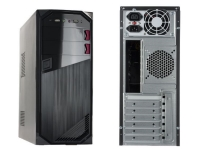 Xtech - XT OEM PC Case ATX 600W PS Black/Red -  Desktop