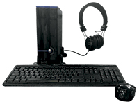 Remate KME CASE GM-9J8A 230W KEYMOUHEADSET BLACK MATX