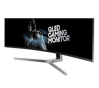 Samsung - LED-backlit LCD monitor - Curved Screen