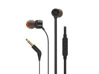 JBL T110 black In-ear headphones onebutton remote Flat cable