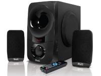 KlipX subwoofer 2,1 60W RMS USB/SD/3,5MM c/control remoto
