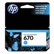 HP 670 - Dye-based cyan - original